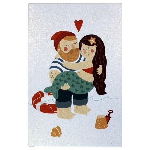 Открытка Люблю тебя арт дизайн подарочный набор открытка с ручкой я не робинзон но пятницу люблю 0701 033