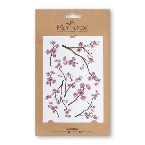 Татуировка переводная Sakura временная татуировка 6pcs 6 12 301