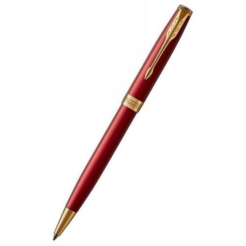 """Ручка шариковая """"Sonnet Laque Red GT"""" глянцевая красная M"""