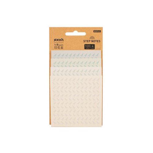 Блок самоклеящийся бумажный inBlooom с рисунками блок самоклеящийся 51х51 мм 400 листов 4 цвета 122858