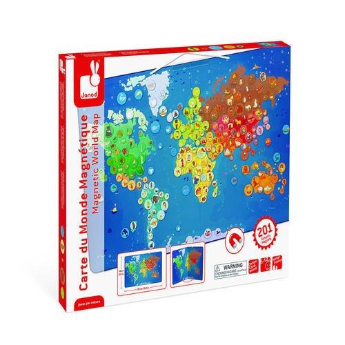 Карта мира с животными, 201 магнит карта мира для детей