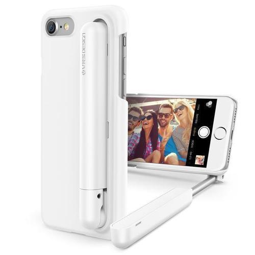 Чехол для iPhone 7, со встроенной селфи-палкой, белый цена 2017
