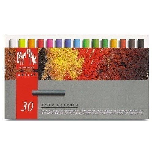 Сухая пастель, 30 цветов пастель мягкая сухая 16цв 2 аква колор