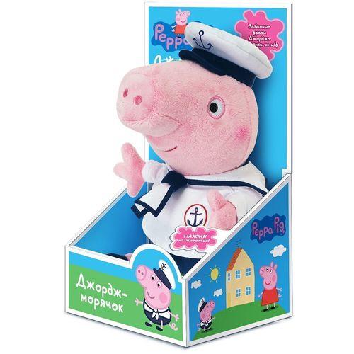 Купить Мягкая игрушка с озвучкой Джордж моряк , 25 см, Peppa Pig, Мягкие игрушки