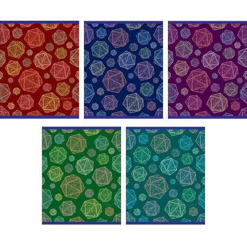 Тетрадь в клетку Блестящие грани А5 5 видов