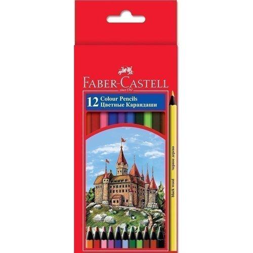 Карандаши цветные Colour Pencils, 12 цветов акварельные карандаши colour pencils с кисточкой набор цветов в картонной коробке 12 шт