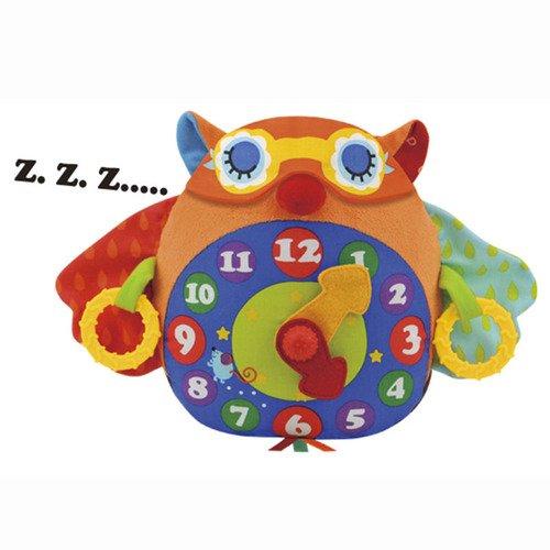 Мягкая развивающая игрушка Часы Сова мягкая игрушка развивающая k s kids часы сова
