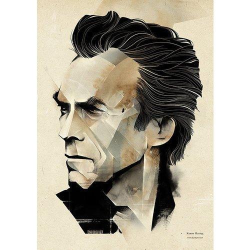 Принт Clint Eastwood А3 принт blue bird song а3