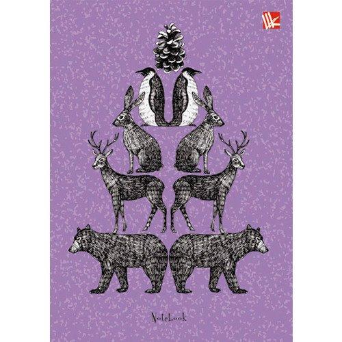 Фото - Книга для записей Животные А6 книга для записей 80 листов романтика кошки а6 кзф6801279