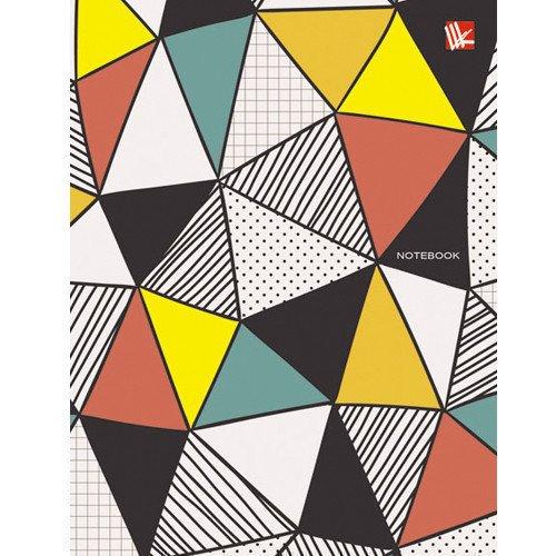 Фото - Записная книжка Пестрые треугольники А6, 80 листов книга для записей 80 листов романтика кошки а6 кзф6801279