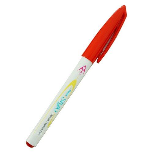Ручка с пластиковым пером Stylo, 0,4 мм, красная ручка с пером
