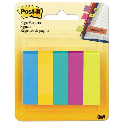 Клейкие закладки бумажные 5 цветов закладки клейкие post it 494572 3 цвета по 100 листов