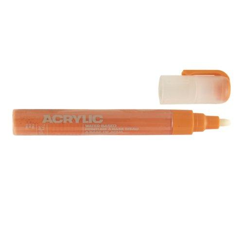 "Маркер ""Acrylic fine"", 2 мм, оранжевый шок"