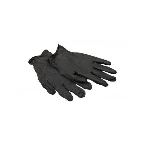 Перчатки латексные черные L цена и фото