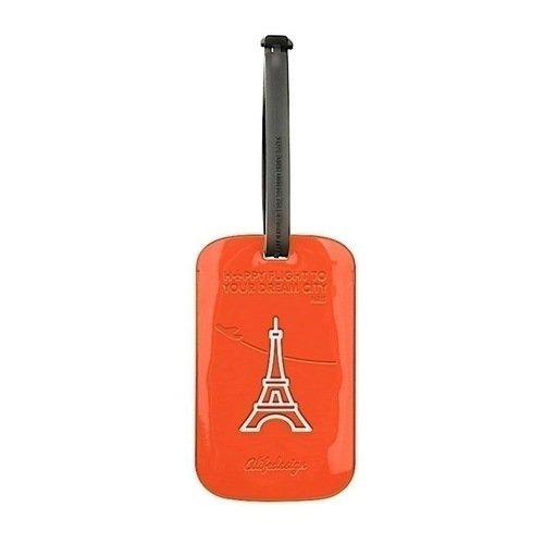 Бирка для багажа Paris, оранжевая