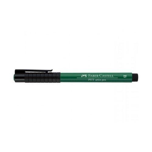 Капиллярная ручка Pitt Artist Pen Brush, темно-зеленая
