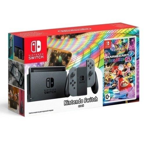 Игровая приставка Nintendo Switch серая + Игра на картридже Mario Kart 8 Deluxe [vk] 1241 3251 switch push spst no 100ma 42v switch