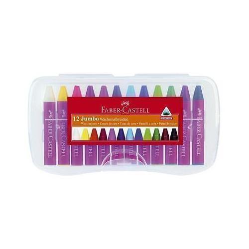 Восковые мелки Jumbo 12 цветов карандаши восковые мелки пастель berlingo мелки восковые рыбки 18 цветов