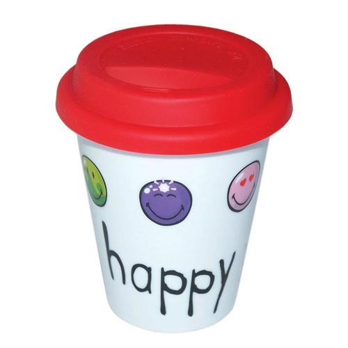 Стакан с резиновой крышкой Happy Colors стакан для ванной vanstore style 6 5 х 6 5 х 11 см