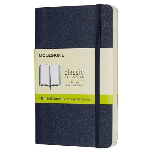 Блокнот нелинованный Classic Soft А6, 96 листов, 9 х 14 см, синий сапфир цена