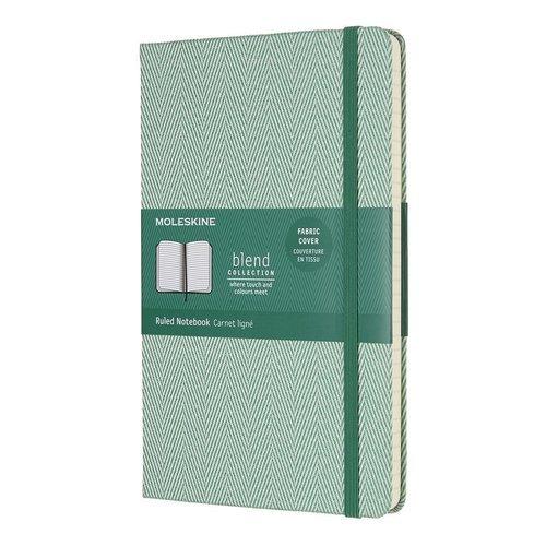Блокнот Blend Large, 96 листов, в линейку, зеленый bg тетрадь отличная 12 листов в косую линейку цвет зеленый 15085