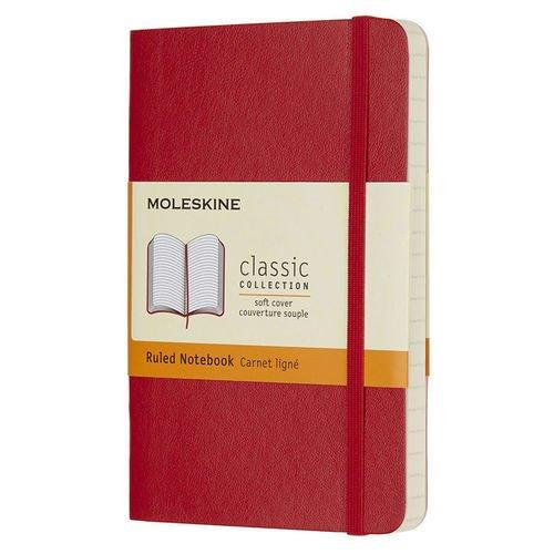 Блокнот Classic Soft А6, 96 листов, в линейку, красный блокнот classic soft pocket а6 96 листов в линейку