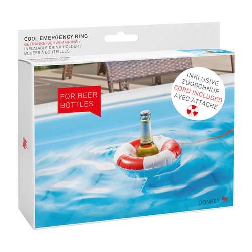 Надувной держатель для бутылок Cool Emergency Ring пробка пепельница для бутылок donkey products flaschenascher do200540