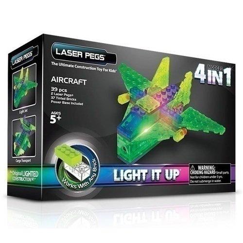 Конструктор 4-в-1  Аэропланы laser pegs светящийся конструктор 4 в 1 laser pegs аэропланы в футляре 39 деталей