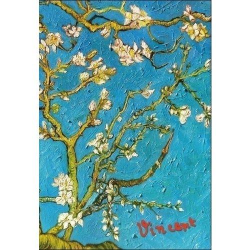 Блокнот в пластиковой обложке Ван Гог. Цветущие ветки миндаля закладка с резинкой ван гог цветущие ветки миндаля арте