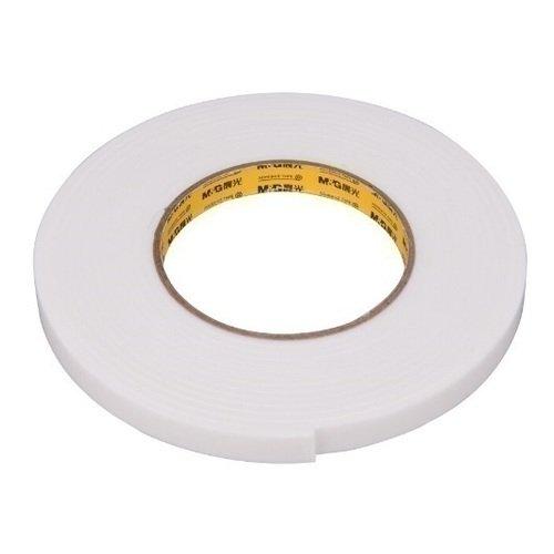 Двухсторонняя клейкая лента 12 мм белая световозвращающая лента oralite reflexite vc104 tanker stickers для жесткого борта для цистерн белая 50 м