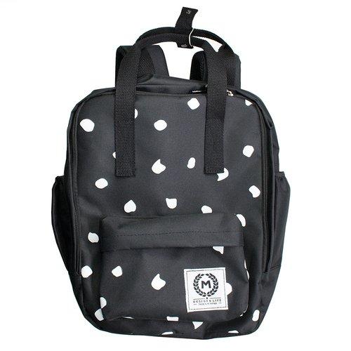 48370f39d2b0 Рюкзак черный в белый горох бренда Mi'kemage – купить по цене 1530 ...