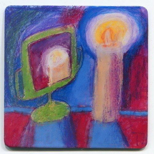 Магнит с рисунком Свеча магнит зимнее волшебство исполненье желаний 8 х 8 см