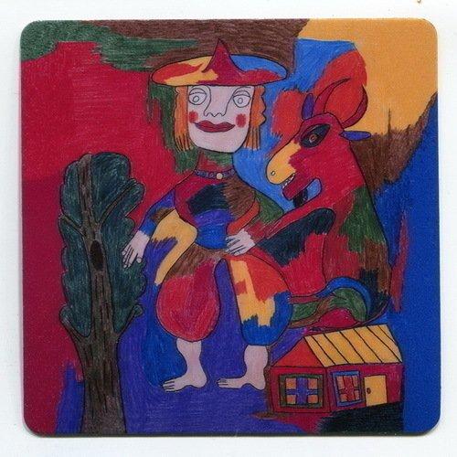 Магнит с рисунком Шагал. Композиция №2 магнит зимнее волшебство исполненье желаний 8 х 8 см