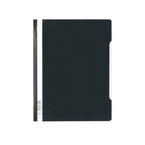 Пластиковый скоросшиватель с прозрачным верхом черный