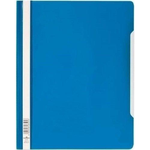 Пластиковый скоросшиватель с прозрачным верхом синий