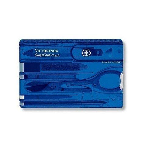"""Швейцарская карта """"SwissCard Lite 0.7322.T2"""" полупрозрачная синяя"""