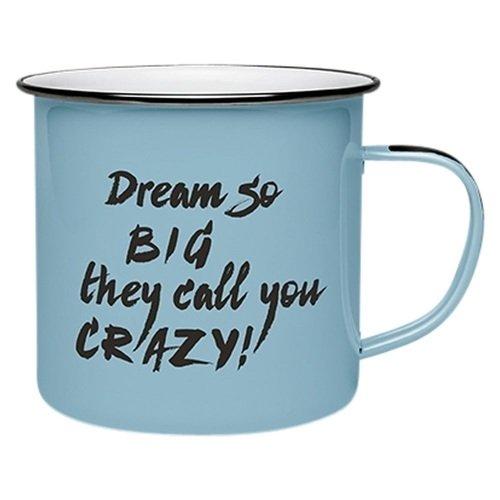 Кружка эмалированная #Enamel Quotes - Dream so big, 250 мл