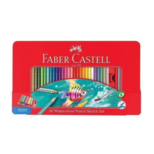 Акварельные карандаши Рыбки, 60 цветов карандаши восковые мелки пастель faber castell акварельные карандаши в металлической коробке 60 шт