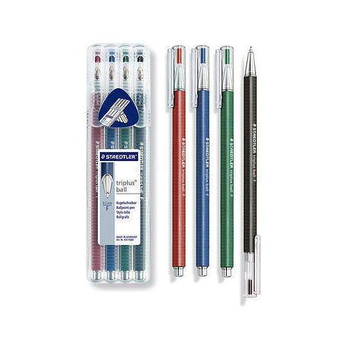 Набор шариковых ручек, 4 шт. ручки шариковые brauberg офисная 4 шт
