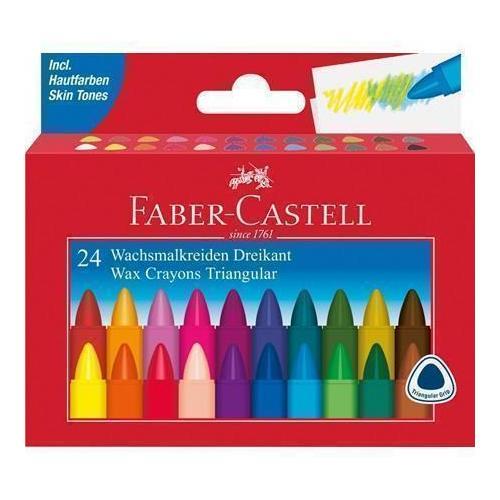 Трехгранные восковые карандаши Triangular, 24 цвета карандаши восковые мелки пастель milan карандаши 235 24 цвета