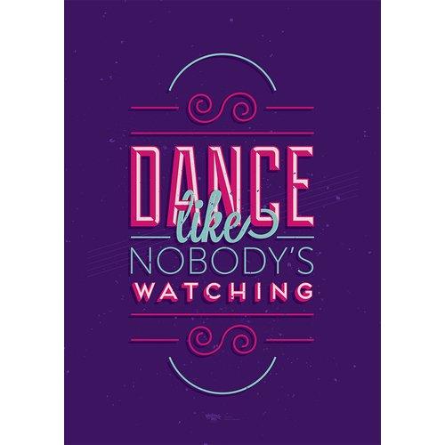 """Принт """"Dance like nobody's watching"""" А4"""