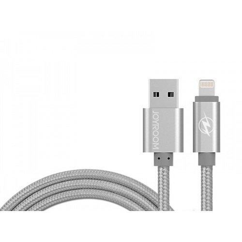 """Кабель """"Braided USB-Lightning MFI"""" 17865 серый кабель для iphone 5 iphone 6 ipad new lightning mfi a data 1м металлический коннектор в оплетке серебристый"""