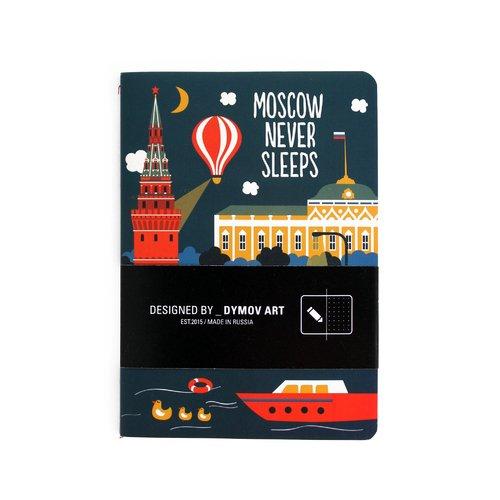 Тетрадь в точку Moscow Never Sleeps A6 тетрадь в линейку moscow never sleeps a5