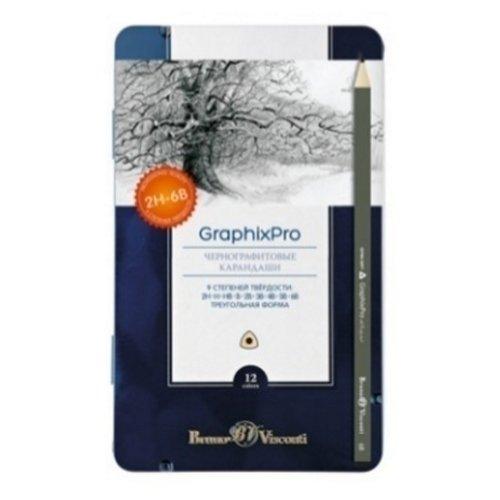 Набор карандашей чернографитных Graphix PRO, 2H-6B lego friends набор чернографитных карандашей 6 шт 51594