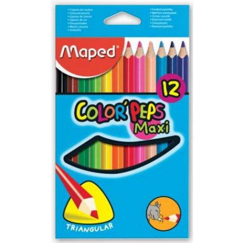 Карандаши цветные Color Peps Maxi, 12 цветов карандаши цветные maped color peps 36 цветов