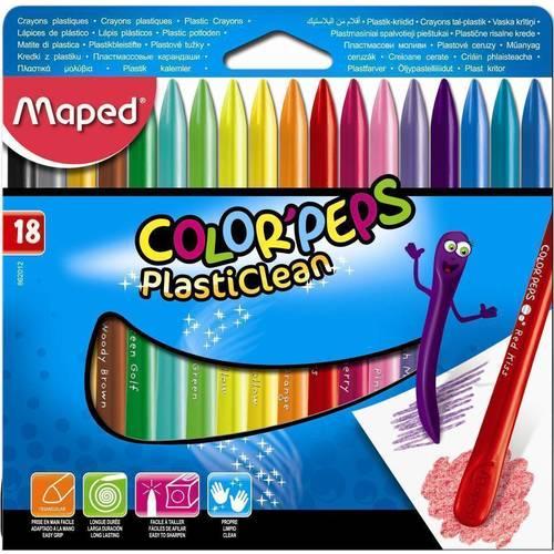мелки Мелки пластиковые Plasticlean 18 цветов