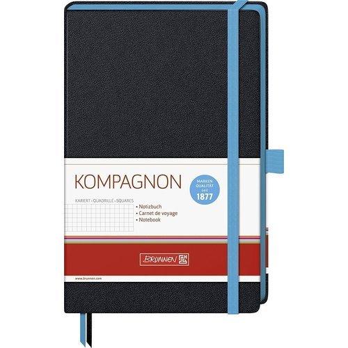 """Блокнот в клетку """"Kompagnon Trend"""" черный"""