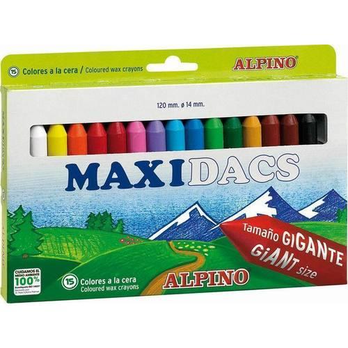 Восковые карандаши толстые Maxidacs 15 цветов карандаши восковые мелки пастель berlingo карандаши жил был кот 18 цветов