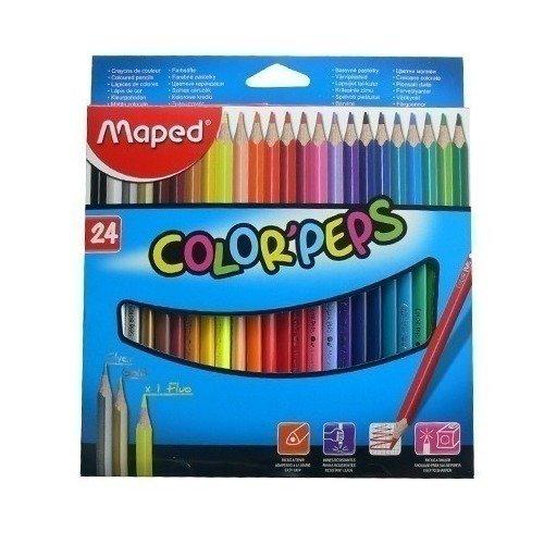 Карандаши цветные Color Peps, 24 цвета карандаши цветные color peps 12 цветов
