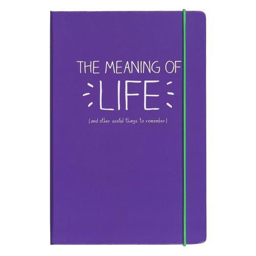 Блокнот в линейку Meaning of Life А5, фиолетовый richard gray a history of american literature